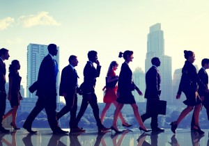 Business People Commuter Corporate City Concept